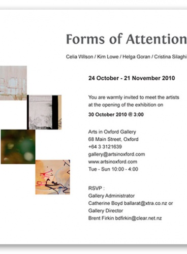 Forms of Attention Exhibition Invite